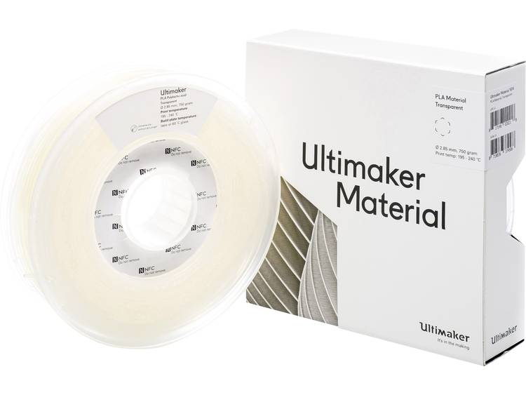 Ultimaker PLA M0751 Transparent 750 211399 Filament PLA kunststof 2.85 mm Transparant 750 g