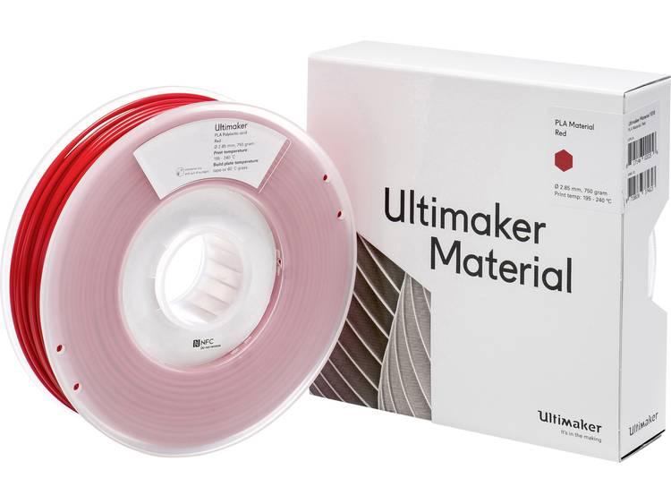 Filament Ultimaker PLA - M0751 Red 750 - 211399 PLA kunststof 2.85 mm Rood 750 g