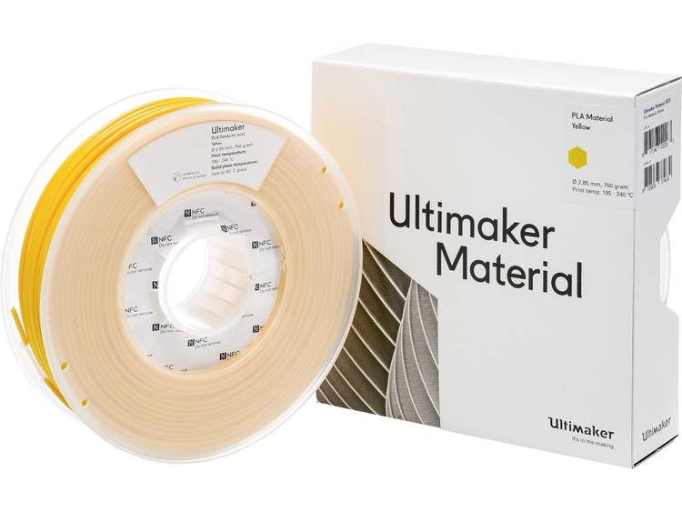 Ultimaker PLA M0751 Yellow 750 211399 Filament PLA kunststof 2.85 mm Geel 750 g