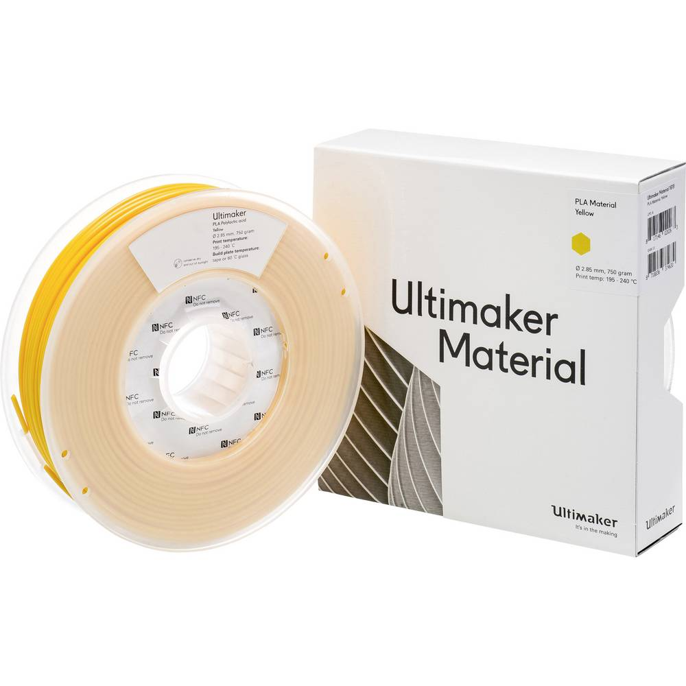 Ultimaker PLA M0751 Yellow 750 211399 Filament PLA kunststof 2.85 mm Geel 750 g