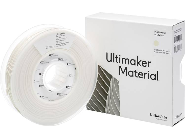 Ultimaker PLA M0751 Pearl White 750 211399 Filament PLA kunststof 2.85 mm Pearl White 750 g