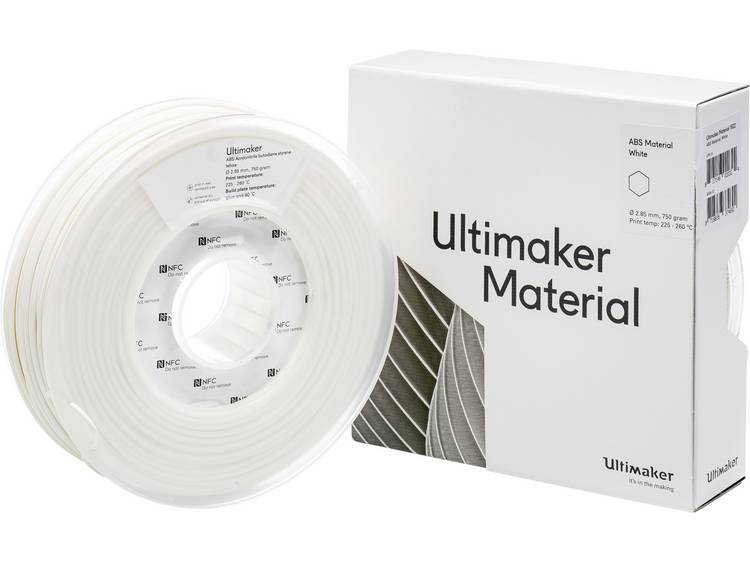 Ultimaker ABS M2560 White 750 206127 Filament ABS kunststof 2.85 mm 750 g