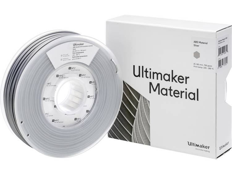 Filament Ultimaker ABS - M2560 Silver 750 - 206127 ABS kunststof 2.85 mm Zilver 750 g