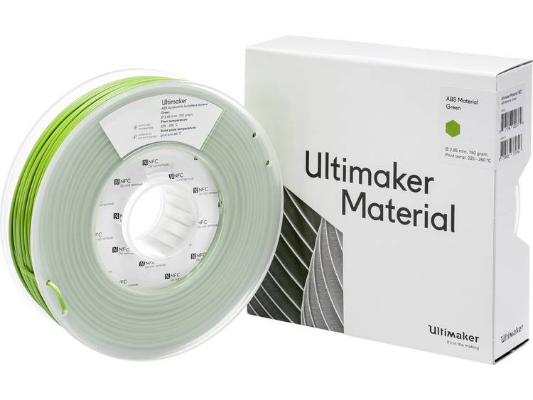 Ultimaker ABS M2560 Green 750 206127 Filament ABS kunststof 2.85 mm Groen 750 g