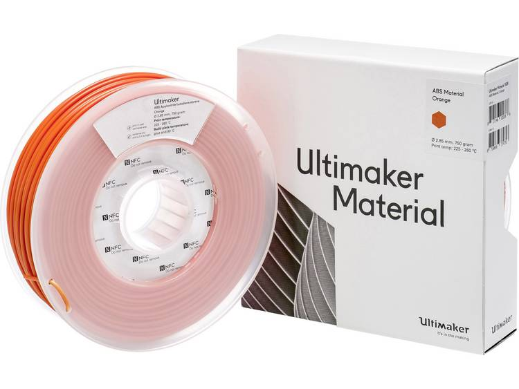 Filament Ultimaker ABS - M2560 Orange 750 - 206127 ABS kunststof 2.85 mm Oranje 750 g