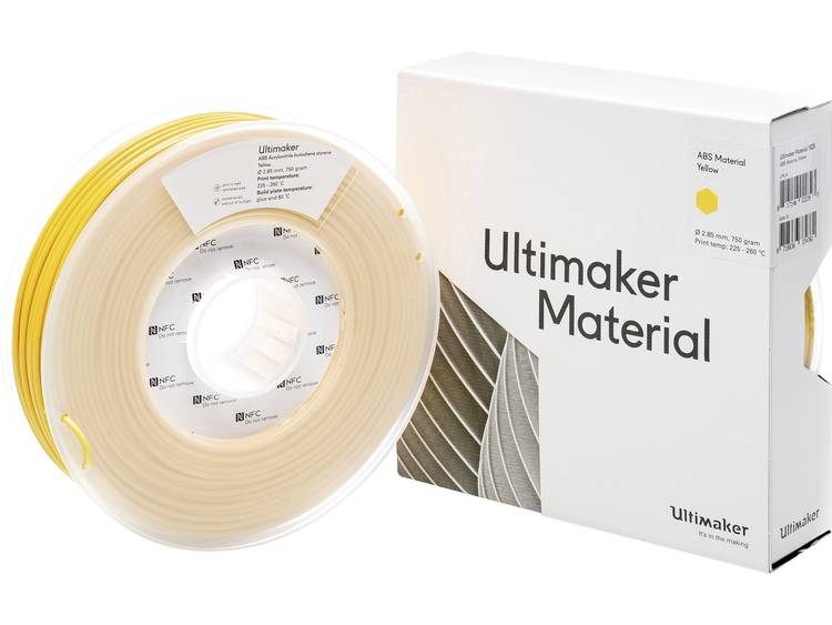 Ultimaker ABS M2560 Yellow 750 206127 Filament ABS kunststof 2.85 mm Geel 750 g