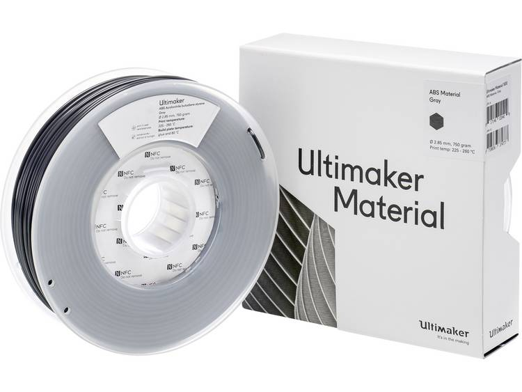 Ultimaker ABS M2560 Gray 750 206127 Filament ABS kunststof 2.85 mm Grijs 750 g