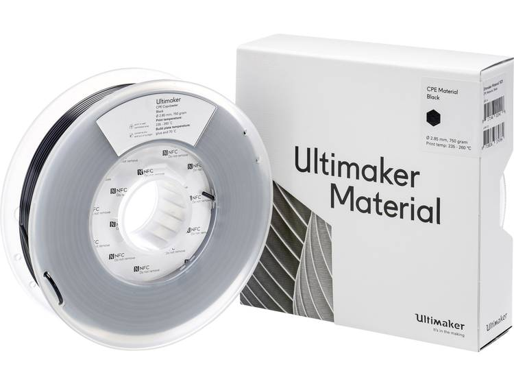 Ultimaker CPE M0188 Black 750 201273 Filament 2.85 mm Zwart 750 g