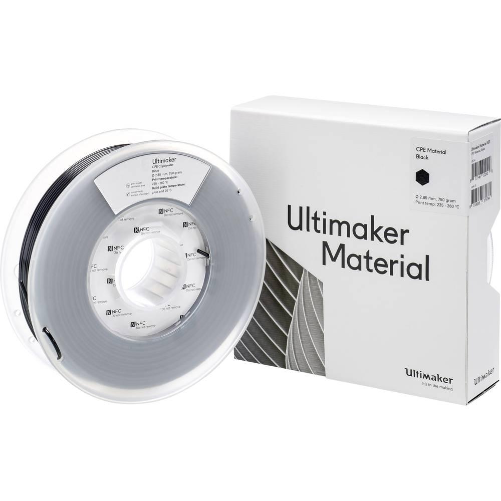 Ultimaker CPE M0188 Black 750 201273 Filament 2.85 mm Zwart 750 g