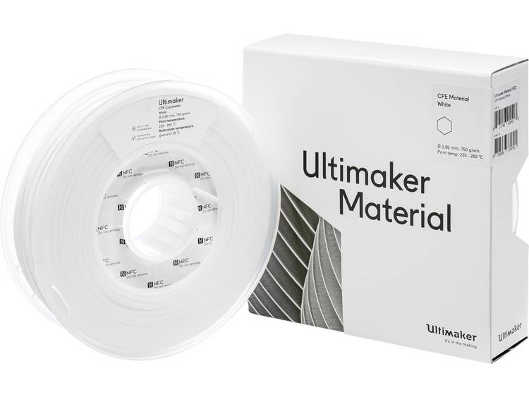 Ultimaker CPE M0188 White 750 201273 Filament 2.85 mm Wit 750 g