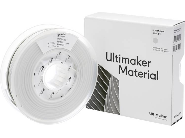 Ultimaker CPE M0188 Light Gray 750 201273 Filament 2.85 mm Lichtgrijs 750 g
