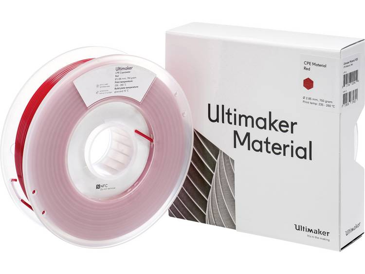 Ultimaker CPE M0188 Red 750 201273 Filament 2.85 mm Rood 750 g