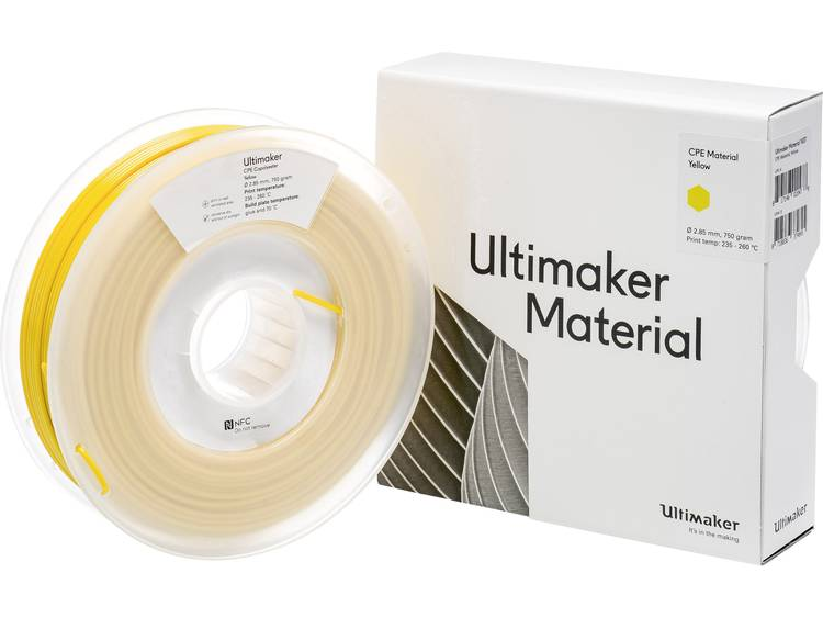 Ultimaker CPE M0188 Yellow 750 201273 Filament 2.85 mm Geel 750 g