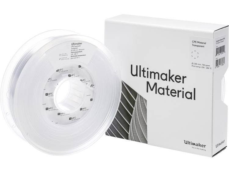 Ultimaker CPE M0188 Transparent 750 201273 Filament 2.85 mm Transparant 750 g