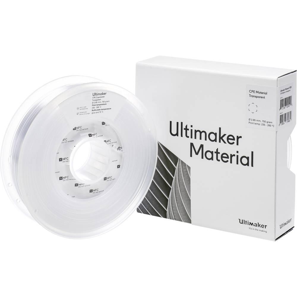 Ultimaker CPE - M0188 Transparent 750 - 201273 3D-skrivare Filament CPE 2.85 mm 750 g Transparent 1 st
