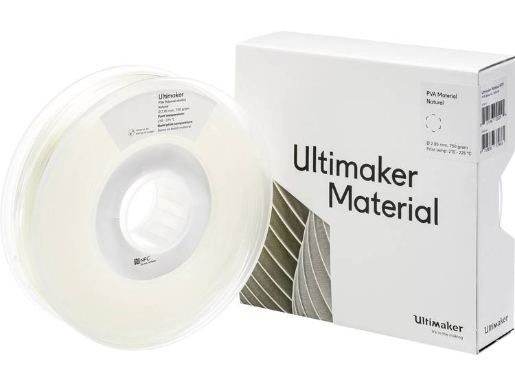 Ultimaker PVA M0952 Natural 750 206127 Filament PVA kunststof 2.85 mm Transparant 750 g