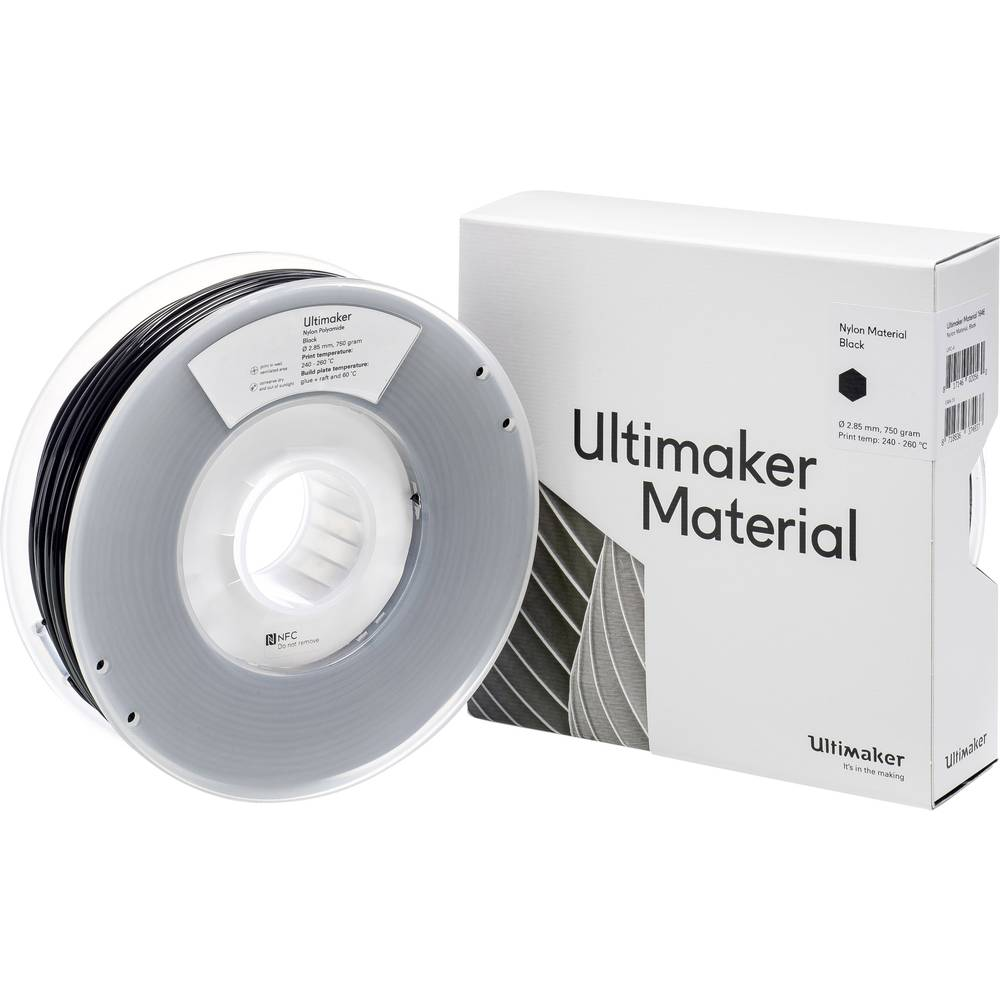 Ultimaker PAX M2085 Black 750 215158 Filament 2.85 mm Zwart 750 g