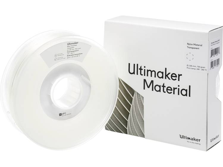Ultimaker PAX M2085 Transparent 750 215158 Filament 2.85 mm Transparant 750 g