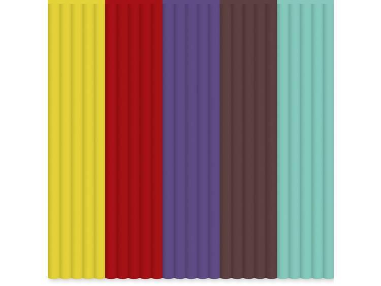 Filamentpakket 3Doodler AB-MIX5 ABS kunststof 2.85 mm Geel, Bruin, Rood, Lila, Groen 55 g