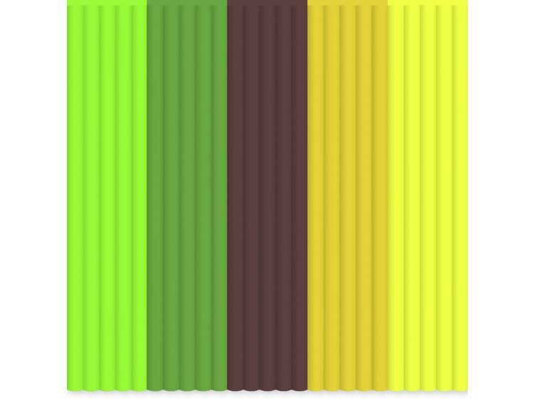 Filamentpakket 3Doodler AB-MIX6 ABS kunststof 3 mm Neon-groen, Donkergroen, Bruin, Oranje, Neon-geel 55 g