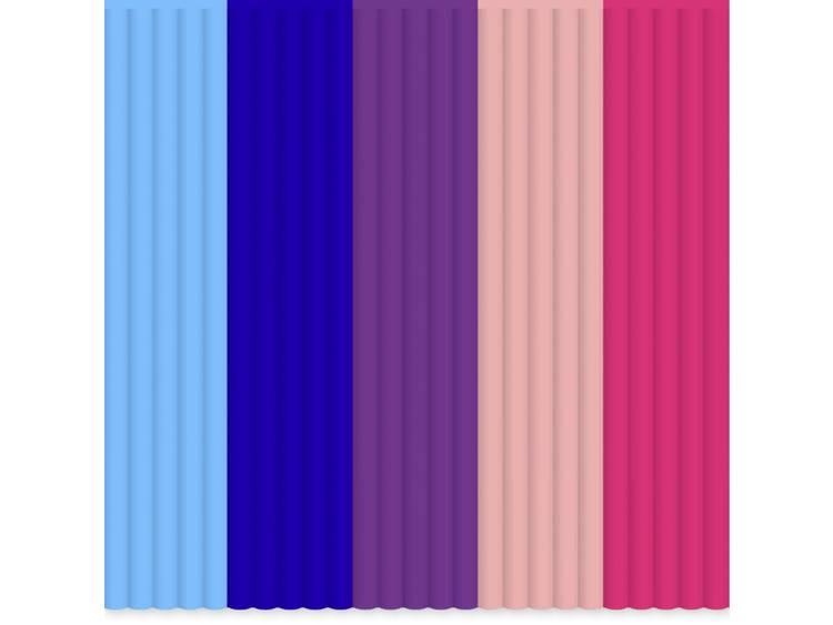 Filamentpakket 3Doodler PL-MIX9 PLA kunststof Lichtblauw, Koningsblauw, Purper, Roze 55 g