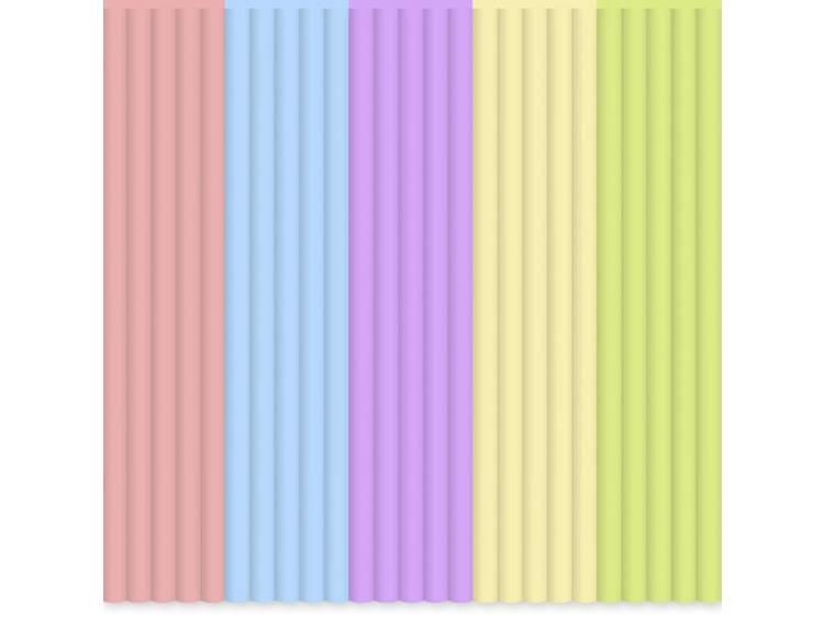Filamentpakket 3Doodler PL-MIX14 PLA kunststof Groen, Lichtblauw, Roze, Violet, Geel 55 g