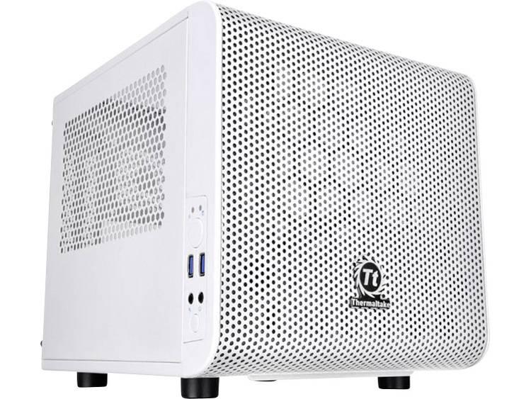Mini-tower PC-behuizing Thermaltake Core V1 Snow Wit 1 voorgeïnstalleerde ventilator, LCS-compatibel