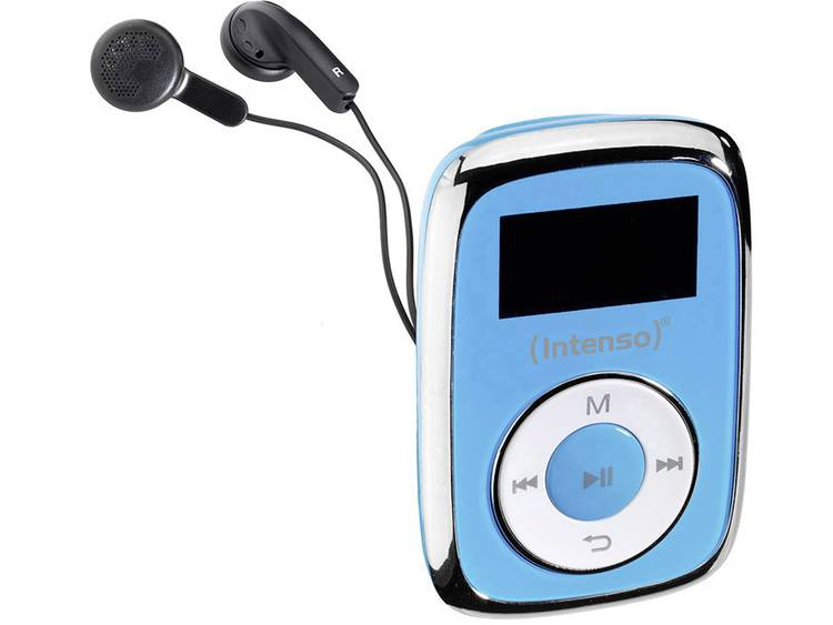 MP3-speler Intenso 8 GB Blauw Bevestigingsclip