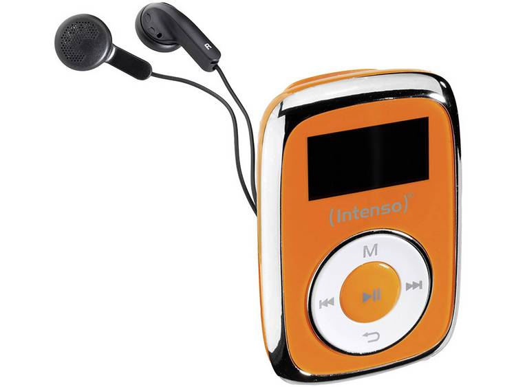 Intenso Music Mover MP3-speler 8 GB Oranje Bevestigingsclip