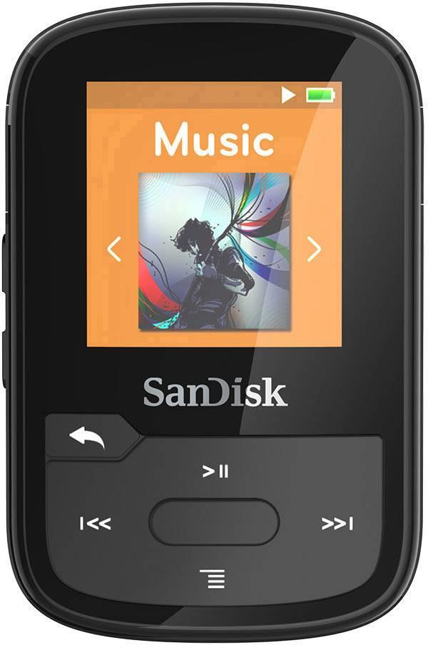 Ongebruikt SanDisk MP3-speler 16 GB Zwart Met bevestigingsclip, Bluetooth HN-62