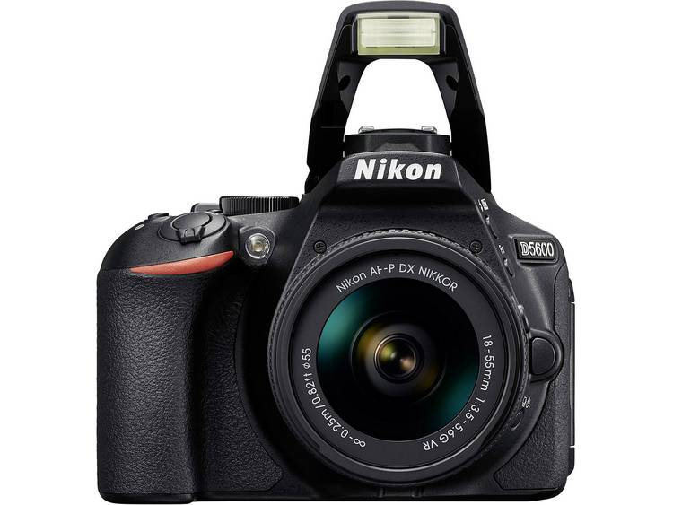 Nikon D5600 Kit Digitale spiegelreflexcamera Incl. AF-P 18-55 mm VR 24.2 Mpix Zwart WiFi, Full-HD video-opname