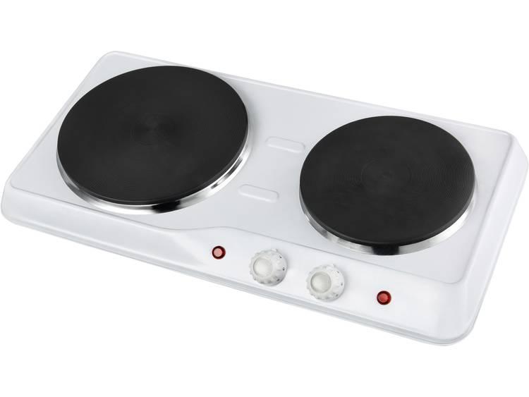 TKG Team Kalorik Dubbele kookplaat met handmatige temperatuursinstelling TKG DKP 1002 W