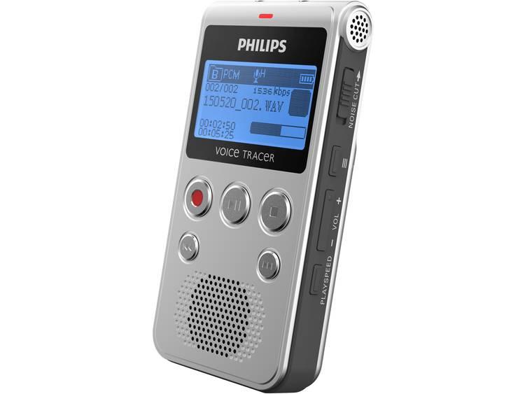 Digitaal dicteerapparaat Philips DVT1300 Opnameduur (max.) 1180 h Zilver