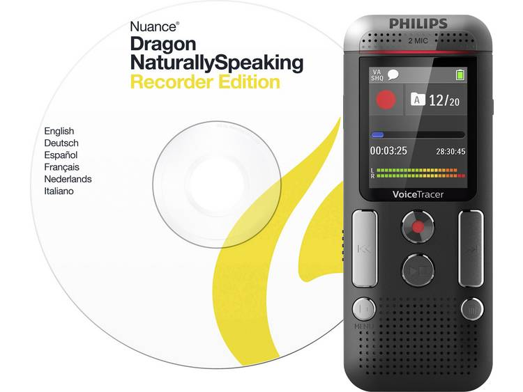 Digitaal dicteerapparaat Philips DVT2710 Opnameduur (max.) 2280 h Antraciet