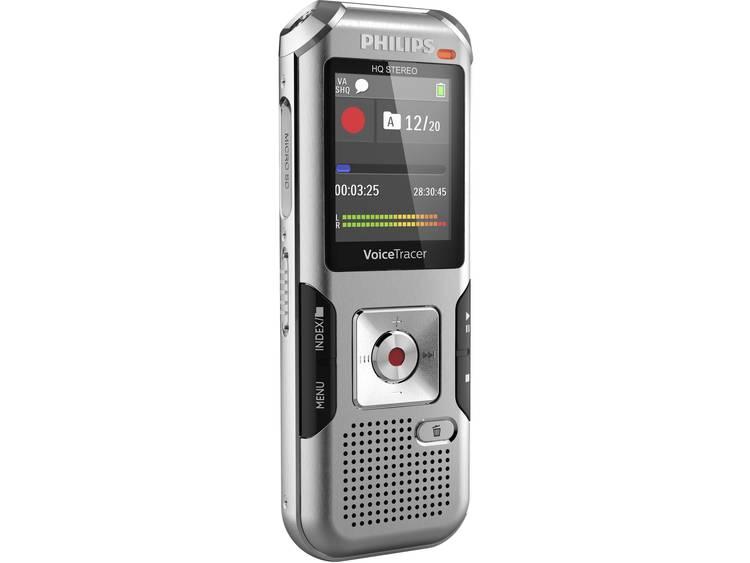 Digitaal dicteerapparaat Philips DVT4010 Opnameduur (max.) 2280 h Zilver-grijs