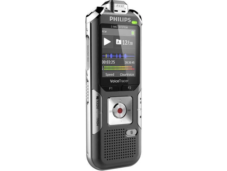 Digitaal dicteerapparaat Philips DVT6010 Opnameduur (max.) 2280 h Zilver-grijs