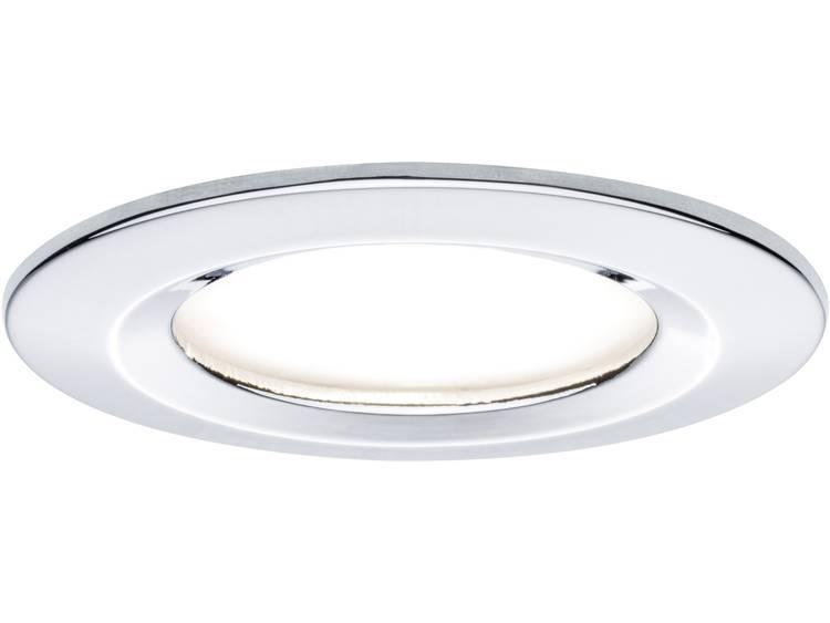LED-inbouwlamp Set van 3 20.4 W Paulmann Coin Warmwit Chroom