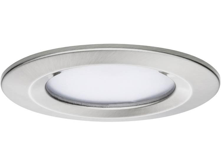 LED-inbouwlamp 6.8 W Warm-wit Paulmann 93871 Coin Slim IJzer (geborsteld)