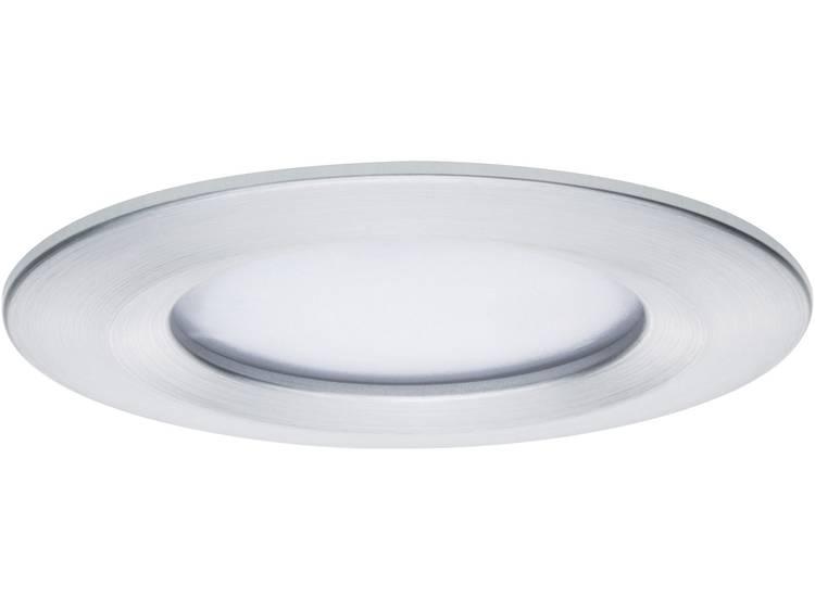 LED-inbouwlamp 6.8 W Warm-wit Paulmann 93896 Coin Slim Aluminium (geborsteld)