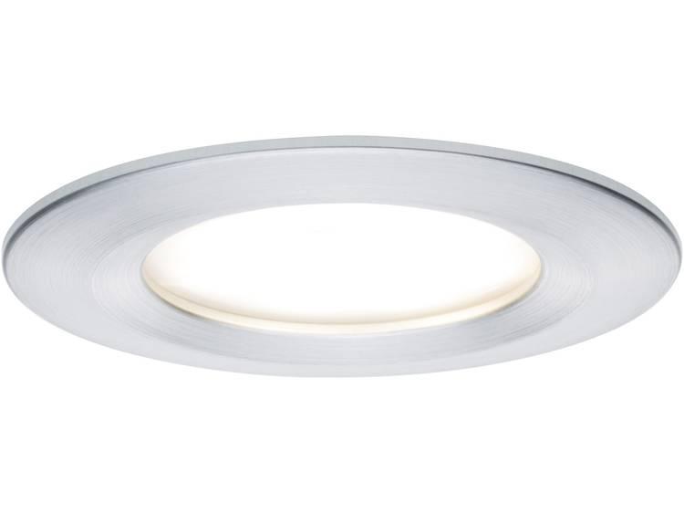 LED badkamer inbouwlamp 6.8 W Warm-wit Paulmann 93900 Coin Slim Aluminium (geborsteld)