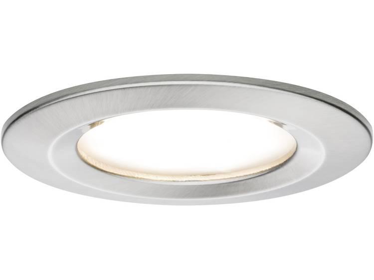LED badkamer inbouwlamp Set van 3 20.4 W Paulmann Coin Warmwit IJzer (geborsteld)