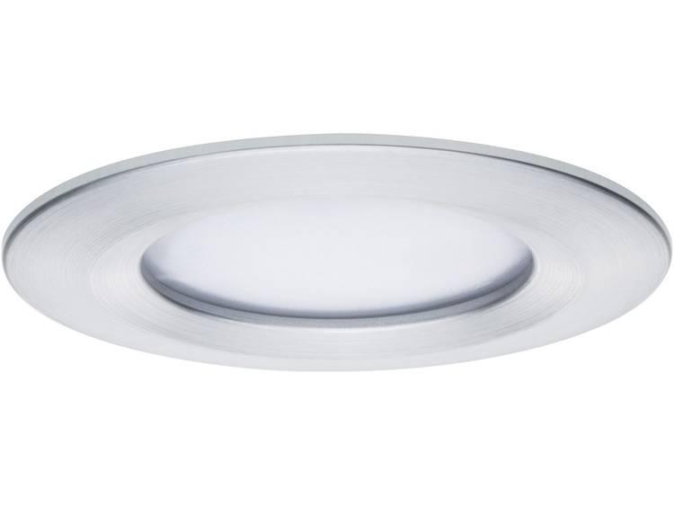 LED badkamer inbouwlamp Set van 3 20.4 W Warm-wit Paulmann 93901 Coin Aluminium (geborsteld)