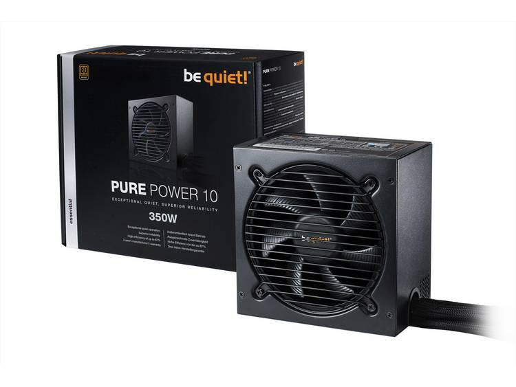 BeQuiet Pure Power 10 PC netvoeding 350 W ATX 80 Plus Bronze