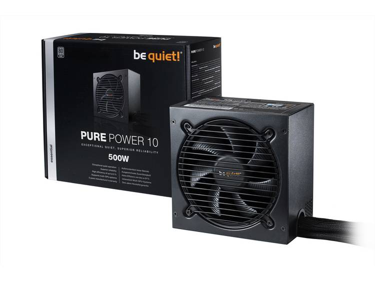 BeQuiet Pure Power 10 PC netvoeding 500 W ATX 80 Plus Silver