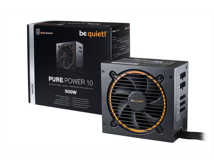 BeQuiet Pure Power 10 CM PC netvoeding 500 W ATX 80Plus Silver