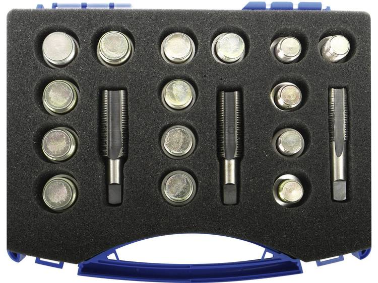 Kunzer 78850 Reparatiegereedschap olieaftapplug, 33 delig, in koffer