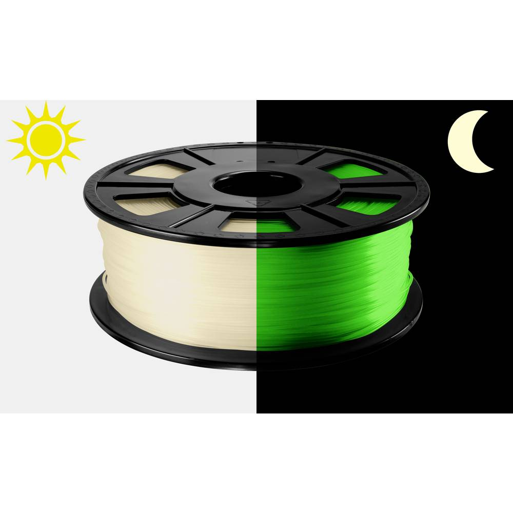 3D-skrivare Filament Renkforce PLA-plast 2.85 mm Grön (fluorescerat) 500 g