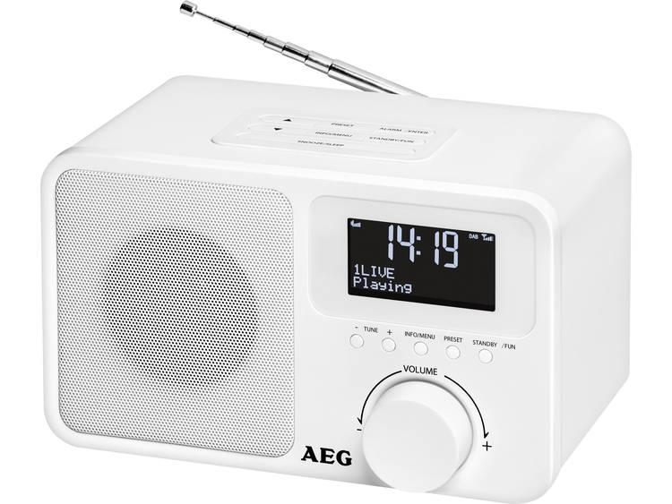AEG DAB+ 4154 DAB+ Tafelradio DAB+, FM, AUX Wit
