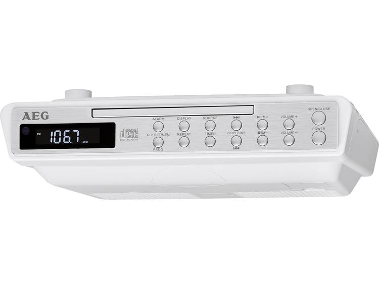 AEG Stereo Kitchen Clock Radio with CD KRC 4376 CD white AEG