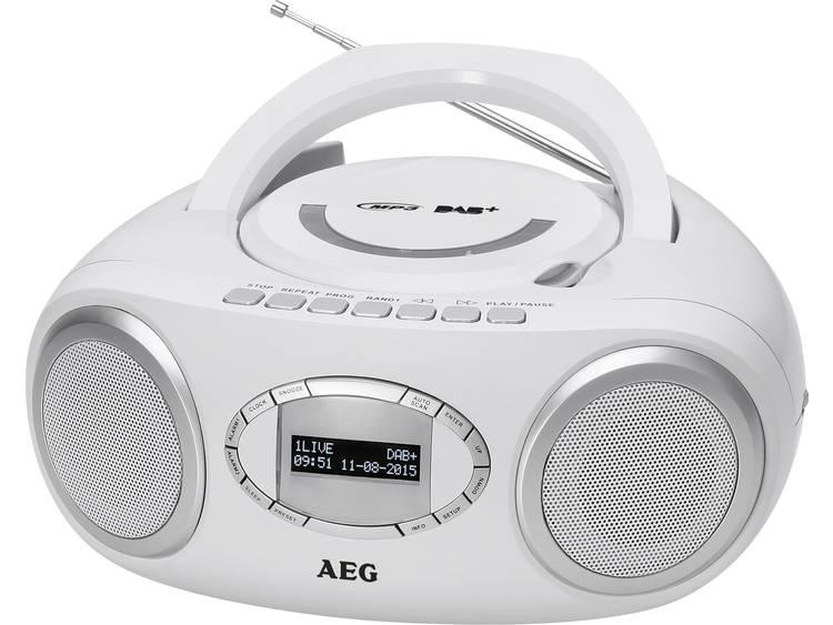 AEG Stereo Radio CD & DAB+ SR 4370 CD-DAB+-USB white AEG